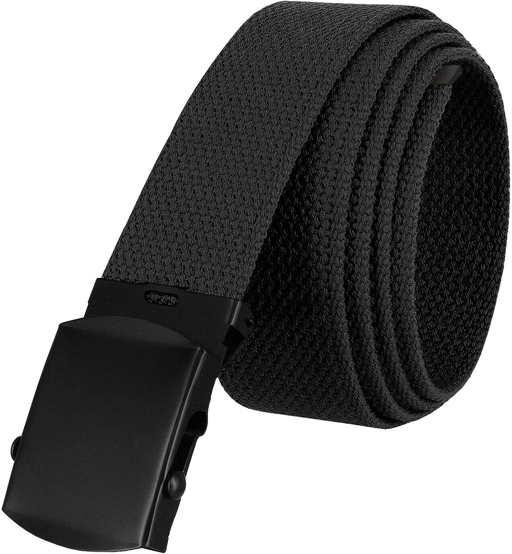 Military Belt Canvas Belt Web Belt Non Leather Belt One Size fits all, 1-1/2