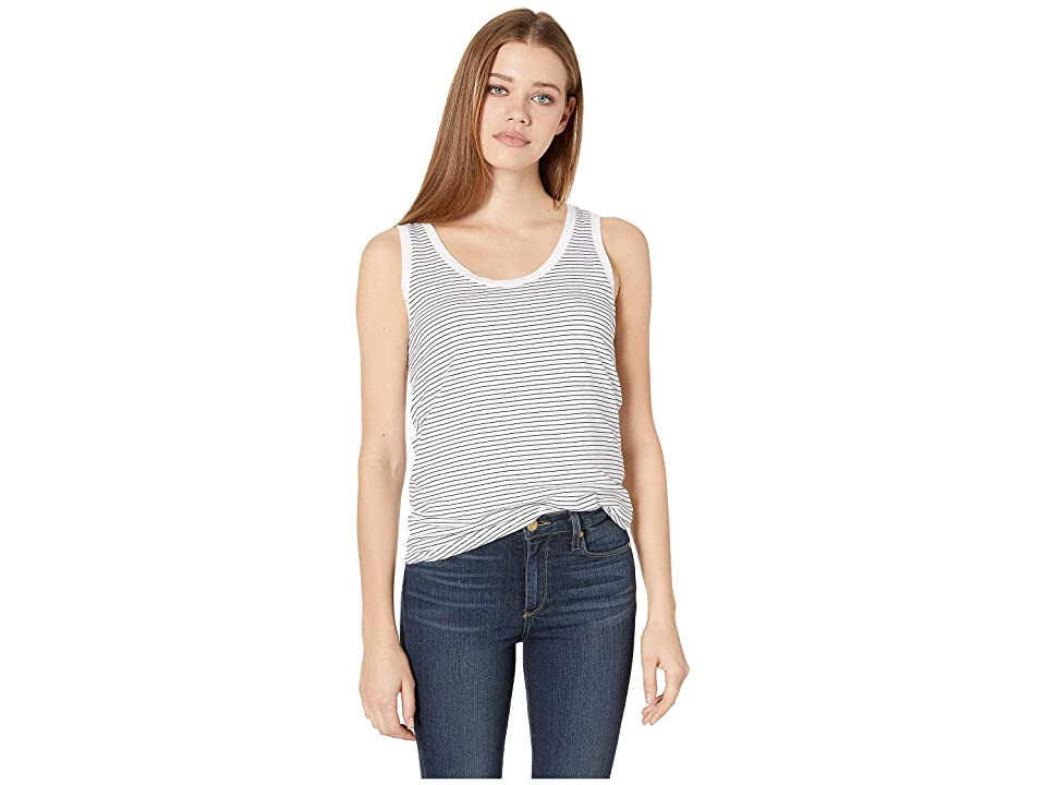 Image of AG Adriano Goldschmied Cambria Tank (True White/True Black) Women's Clothing