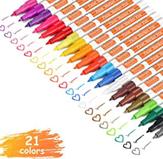 iBayam Paint Marker Pens, Oil-Based, Extra Fine Point, 21 Colors, Odorless, Expert of..