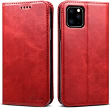 iPhone 11 6.1inch Wallet case FLYERI Leather Case Flip Folio Book Case Wallet Cover with Kickstand Feature Card Slots & ID...