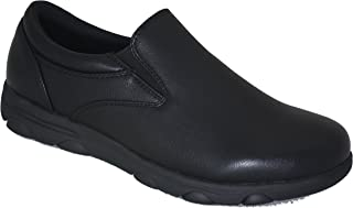 Gelato Mens 8556 Non-Slip Professional Slip on Comfort Work Shoe with Memory Insole