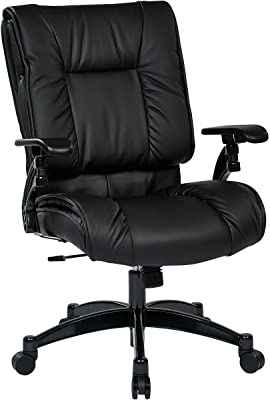 SPACE Seating Black Eco Leather Conference Chair with Cantilever Arms and Gunmetal Finish Base