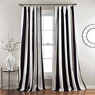Lush Decor Wilbur Stripe Room Darkening Window Curtain Panel Pair, 95