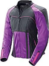 Joe Rocket 1240-1902 Radar Women's Leather Jacket (Purple/Black, Small)