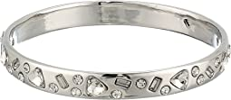 Blue by Betsey Johnson Silver Tone Bangle with Multi Shape CZ Crystal Accents