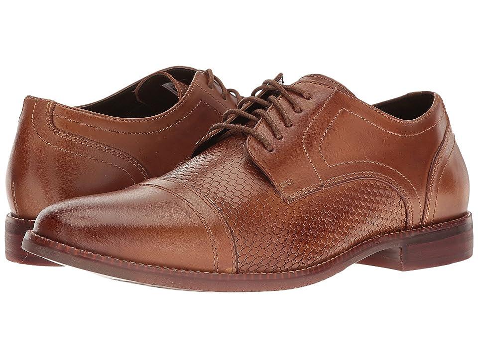 Rockport Style Purpose Woven Cap Toe (Cognac Leather) Men