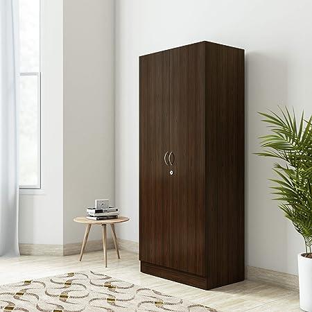 Amazon Brand - Solimo Pyxis Engineered Wood Wardrobe Mahogany , 2 Doors