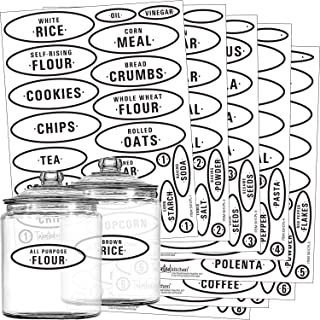 Pantry Labels for Jars, Canisters, Containers for Storage and Organization Product Accessories for Kitchen, Bathroom, Laun...