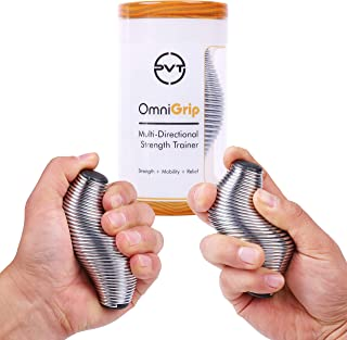 Pivot Performance OmniGrip 2.0 Strength Trainer & Stress Ball - Hand Finger Thumb Exerciser Grip Strengthener   Anxiety Stress Relief Therapy