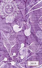 2019 Weekly & Monthly Classic Purple Mystic: 12 Month Planner Diary with Vertical Day Appointment Agenda and Small Calendar Organizer