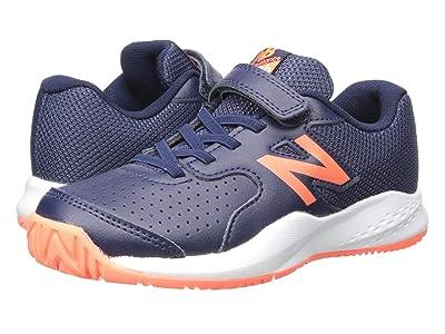 New Balance Kids KC696v3 Tennis (Little Kid/Big Kid) (Pigment/Dark Mango) Kids Shoes