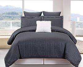 Duck River Schillman Geometric Comforter Set, Queen, Grey