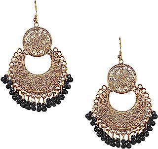 Bodha Antique Gold Boho Style Gypsy Earrings (SJ_966)
