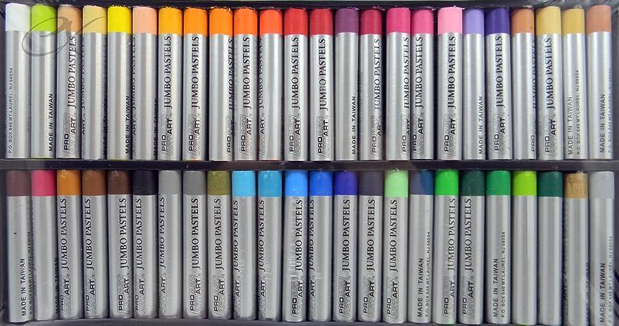 PRO ART Jumbo Oil Pastels 48 Brilliant Colors Non-Toxic