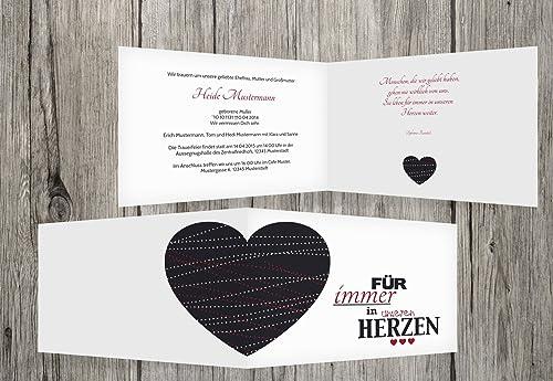 Tarjeta Tarjeta Tarjeta de luto Corazón, borgoña, 100 Karten  para barato