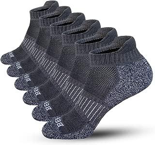 BERING Men's Performance Low Cut Running Socks (6 Pack)