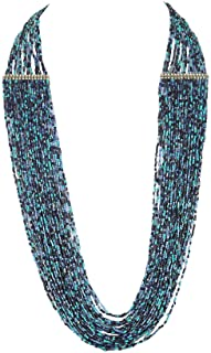 DCA Glass Base Metal and Necklace for Women's