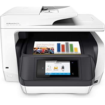 HP OfficeJet Pro 8720 All-in-One Wireless Printer, HP Instant Ink or Amazon Dash replenishment ready - White (M9L75A)