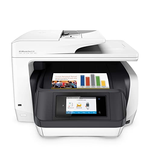 HP OfficeJet Pro 8720 All-in-One Wireless Printer, HP Instant Ink & Amazon Dash Replenishment ready - White (M9L75A)