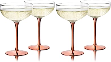 Best copper champagne coupe Reviews