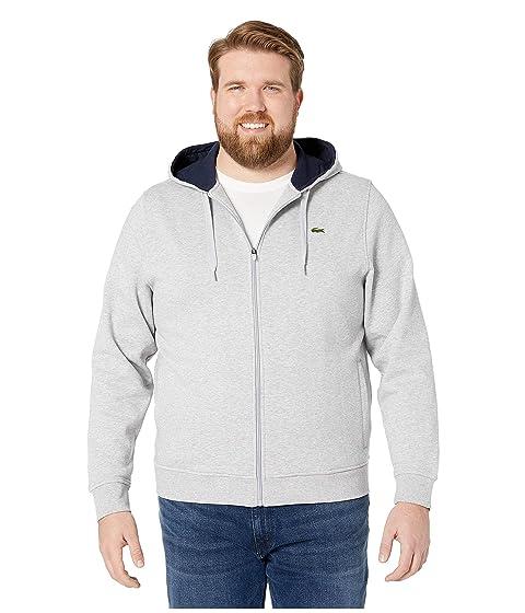 c170fc6586 Lacoste Full Zip Hoodie Fleece Sweatshirt at Zappos.com