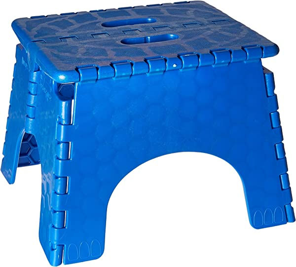 Folding Step Stool 101 6B 9 Inches High 300 Pound Capacity Blue