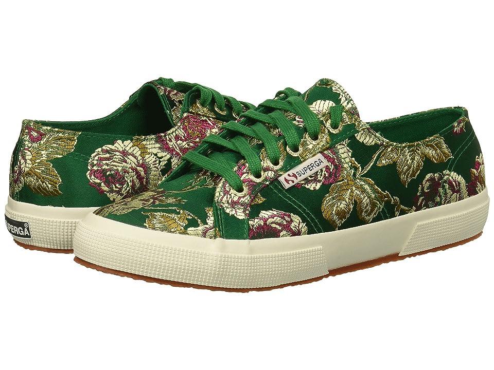 Superga 2750 Satinjaquardw (Emerald) Women