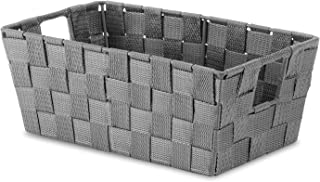 Whitmor Woven Strap Small Shelf Tote Savvy Gray