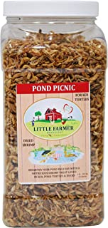 LITTLE FARMER PRODUCTS Pond Picnic Dried River Shrimp & Minnow Fish Food for Koi, Turtles, Ducks Treat | 1 lb