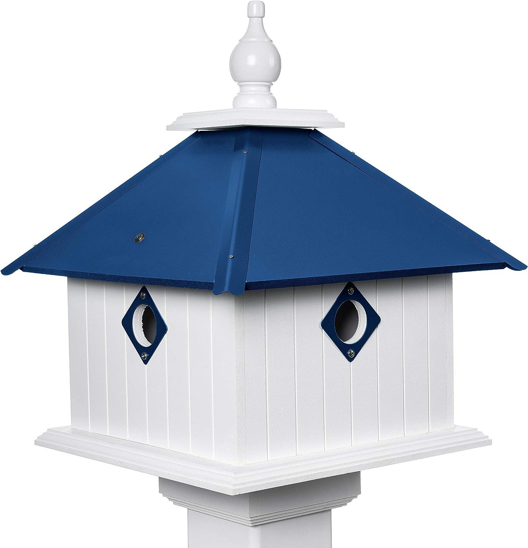 Paradise Birdhouses - Carriage House Blue Cobalt Long-awaited Bird Sales