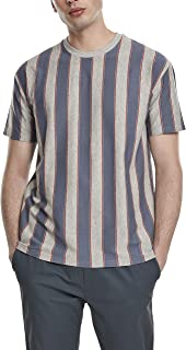 Urban Classics Men's Printed Oversized Bold Stripe Tee T-Shirt