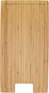 BambooMN Brand Bamboo Griddle Cover/Cutting Board for Viking Cooktops, New Vertical Cut, Small (10.25