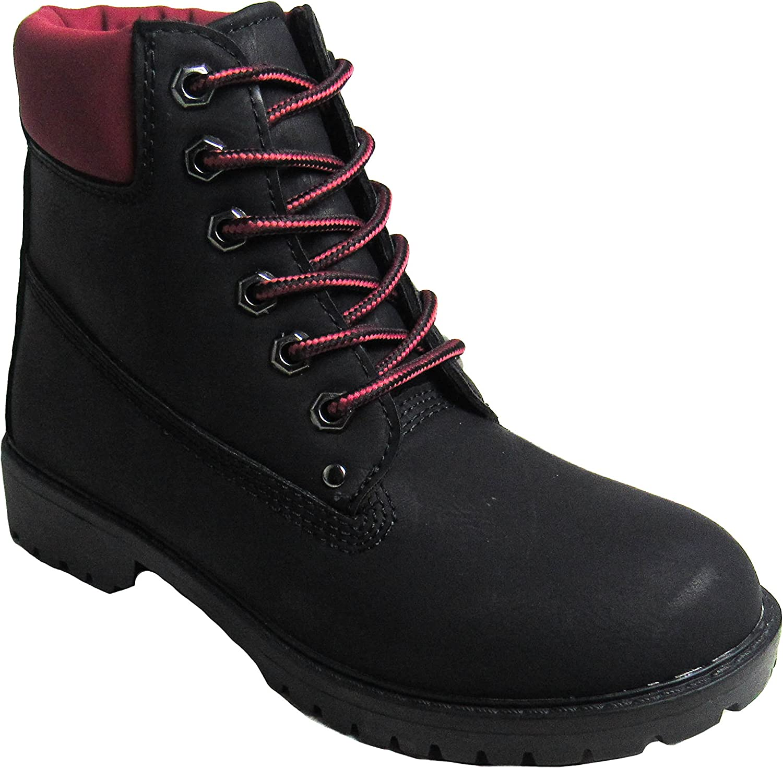 Glaze Womens Zony-1Black Cranberry Boots 5.5 D(M) US