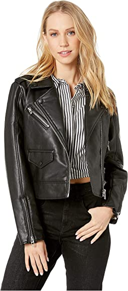 Vegan Leather Moto Jacket in Never Too Much
