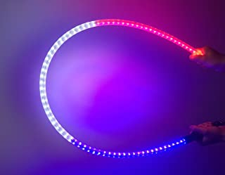 LED QUICK RELEASE WHIP - 4 FEET Red/White/Blue