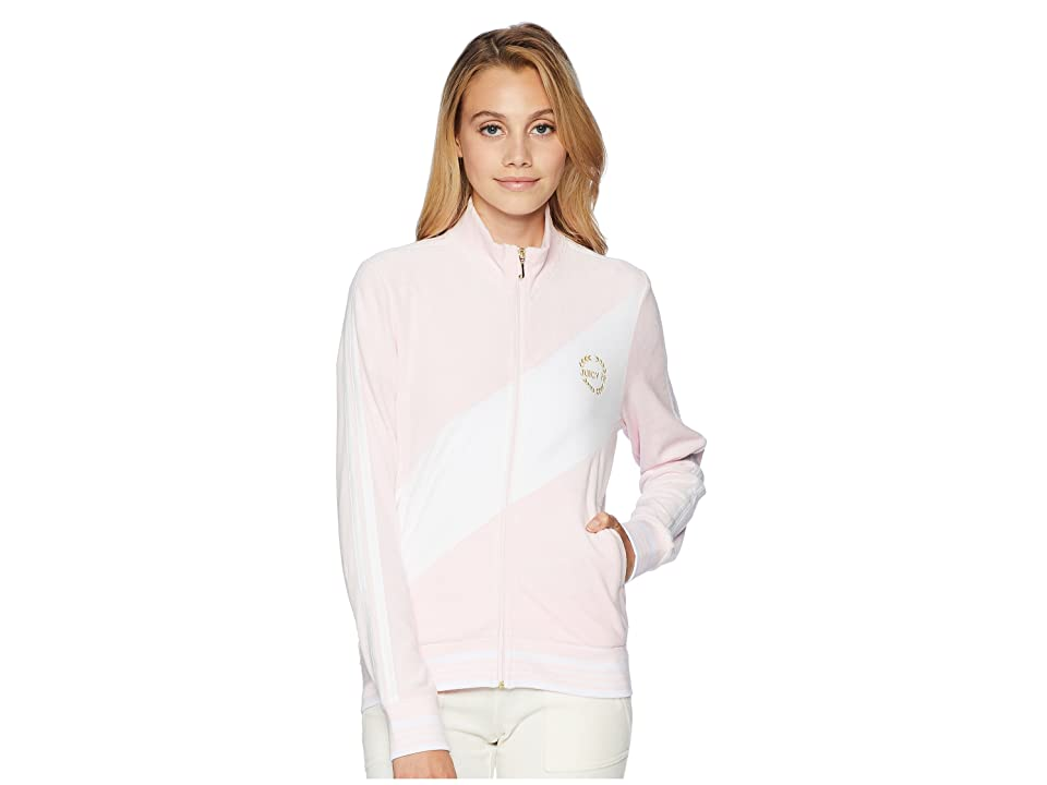 Juicy Couture Track Velour Sporty Heritage Jacket (Whisper Pink) Women