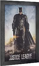 "Crystal Art Licensed D.C. Comics Justice League Batman Framed Movie Poster Wall Art 19"" H x 13"" L Multicolored"