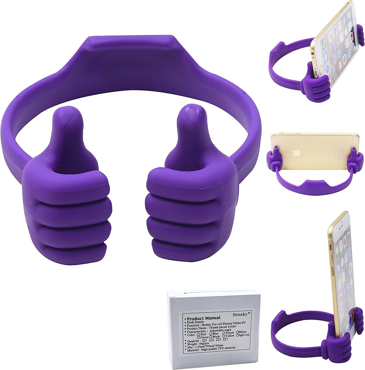 Honsky Popular standard supreme Thumbs-up Cell Phone Stand fo Cradle Tablet Holder