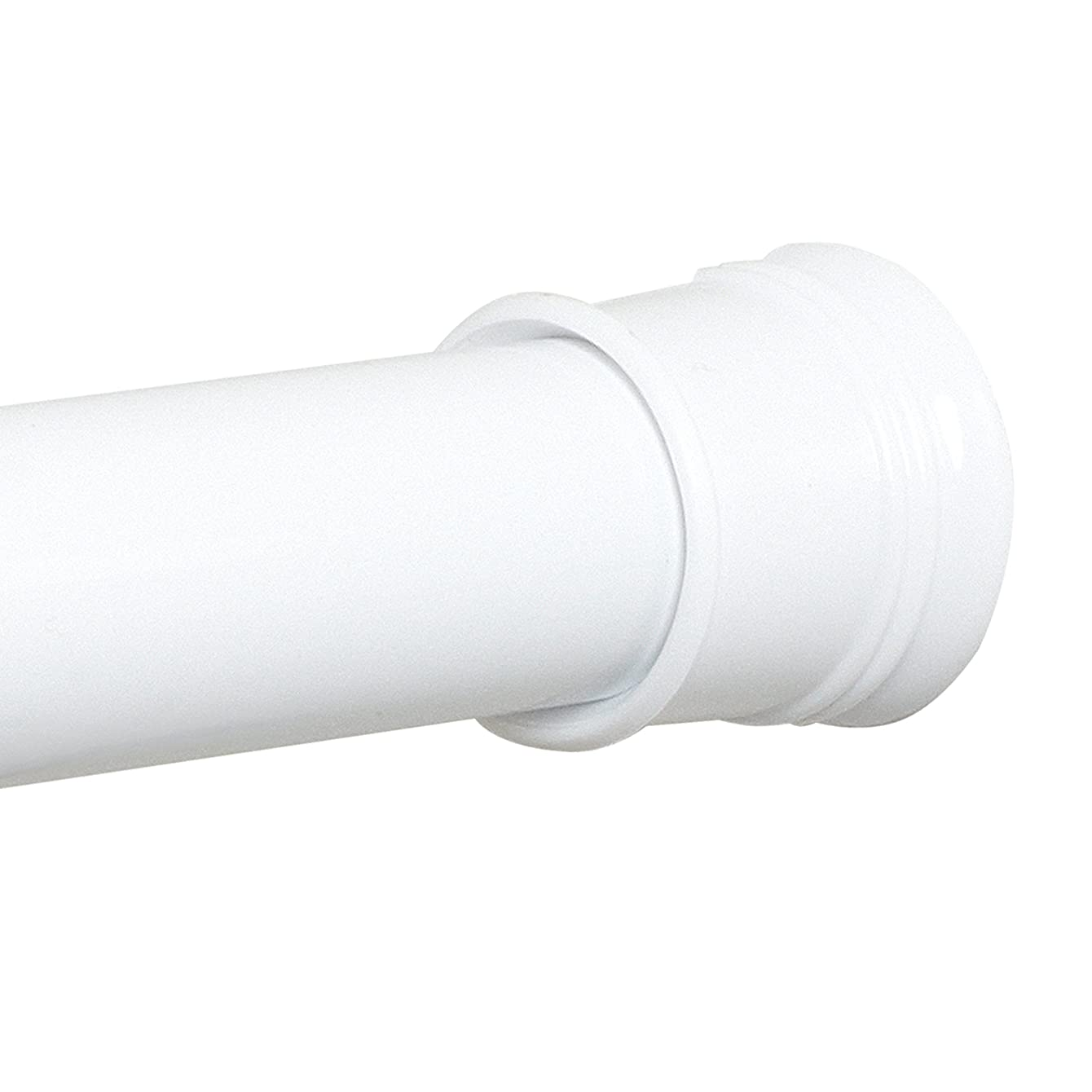Zenna Home 886WW, Tension Shower Curtain Rod, 52 to 86 Inches, White