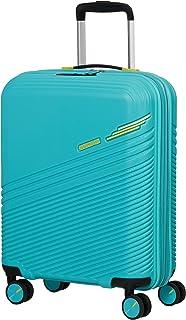 American Tourister Triple Trace Bagagli- Bagaglio a Mano, S (55 cm - 46 L), Turchese (Turquoise/Yellow)