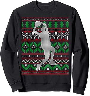 Basketball Player Slam Dunk Dribble Hoops Happy Holidays  Sweatshirt