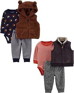 Baby Boys 2-Pack 3-Piece Vest Set