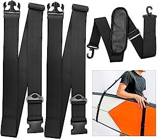 TOBWOLF Surfing Watershed Fins, Stand Up Paddle Board Surfboard Tail Rudder Set, Surfboard Shoulder Strap, Kayak Paddle Ca...