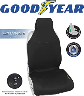 """Goodyear GY1121 Water Resistant Seat Cover 22""""W x 53""""H 100% Pure Neoprene Fabric for Maximum Protection Side Airbag Compatible Fits Most Vehicles Easy Slip-on Adjustable Straps"""