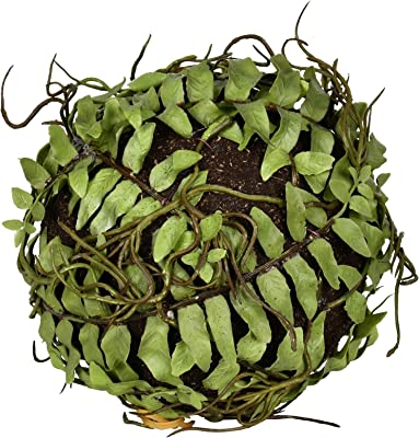 """Vickerman Everday 5"""" Indoor Artificial Green Boston Fern Ball - Realistic Looking Colorful Foliage of Durable Plastic - Maintenance Free - 2 per pack"""