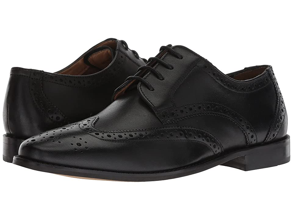 Florsheim Finley Wing-Tip Oxford (Black Smooth) Men