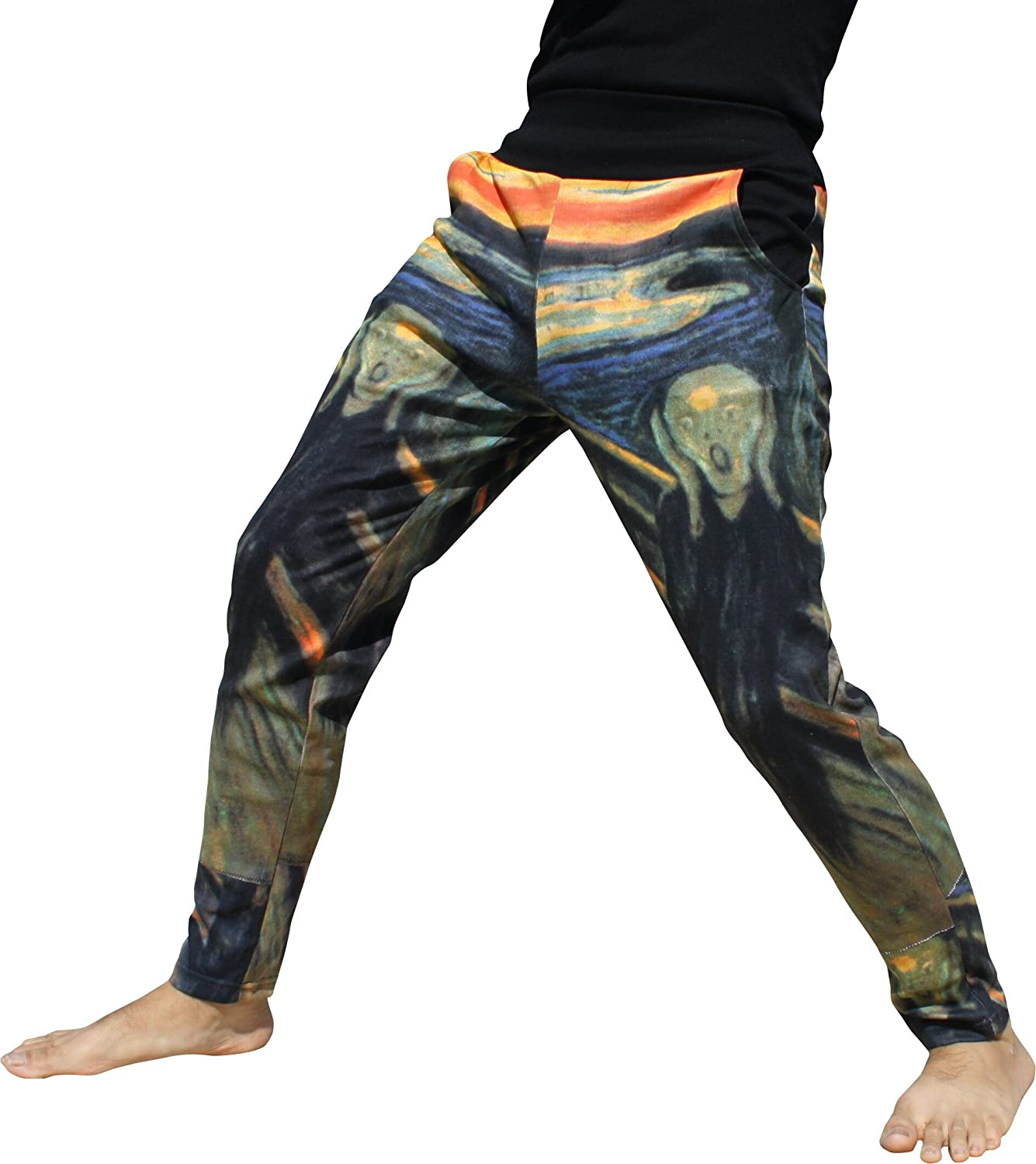 RaanPahMuang Printed Spandex San Diego Mall Pants The - Edward Munch Limited Special Price Scream