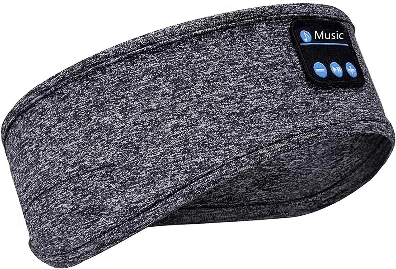 FixtureDisplays Sleep Headphones Bluetooth Headband Soft Sleeping Wireless Music Sport Headbands, 8-10 Hrs Playtime, Sleeping Headsets Speakers Workout, Running, Yoga, Washable 15283