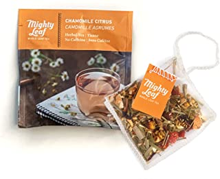 Mighty Leaf Tea Chamomile Citrus Tea Pouches, 100 Count Herbal Tea Bags in Individual Foil Packs