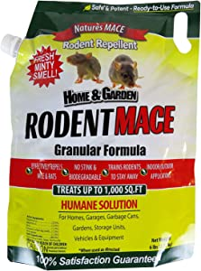 Nature's Mace Rodent Repellent 6lb / Covers 1,000 Sq. Ft. / Repel Mice & Rats/Keep mice, Rats & Rodents Out of Home, Garage, attic, and Crawl Space/Safe to use Around Children & Pets